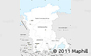 Silver Style Simple Map of Eastern Siberia