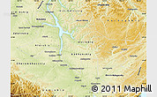 Physical Map of Ust-Orda Buryat Autonomous Okrug