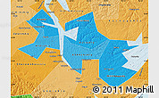 Political Shades Map of Ust-Orda Buryat Autonomous Okrug