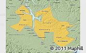 Savanna Style Map of Ust-Orda Buryat Autonomous Okrug
