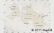 Shaded Relief Map of Ust-Orda Buryat Autonomous Okrug, lighten