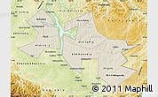 Shaded Relief Map of Ust-Orda Buryat Autonomous Okrug, physical outside