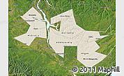 Shaded Relief Map of Ust-Orda Buryat Autonomous Okrug, satellite outside