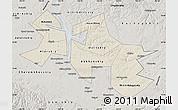Shaded Relief Map of Ust-Orda Buryat Autonomous Okrug, semi-desaturated