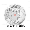 Outline Map of Ust-Orda Buryat Autonomous Okrug