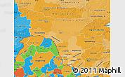 Political Shades Map of Amur Oblast
