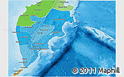 Political Shades 3D Map of Kamchatka Oblast