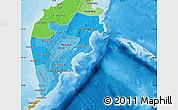 Political Shades Map of Kamchatka Oblast
