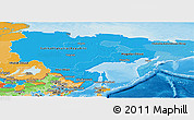 Political Shades Panoramic Map of Far East
