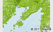 Physical Map of Vladivostok