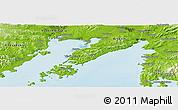 Physical Panoramic Map of Vladivostok