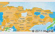 Political Shades 3D Map of Sakha (Yakutia) Republic