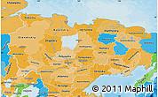 Political Shades Map of Sakha (Yakutia) Republic