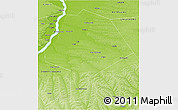 Physical 3D Map of Megino-Kangalasskiy