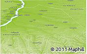 Physical Panoramic Map of Megino-Kangalasskiy