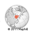 Outline Map of Sakha (Yakutia) Republic