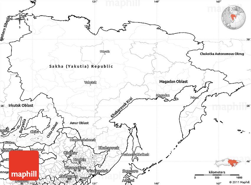 Worksheet. Blank Simple Map of Far East