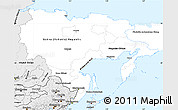 Silver Style Simple Map of Far East