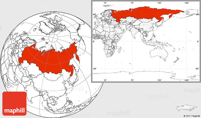 Blank Location Map Of Russia - Blank map of russia