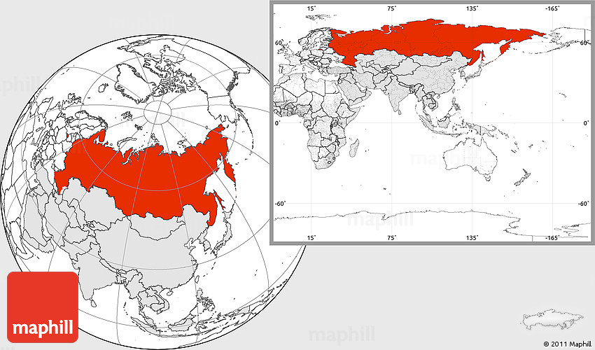 Blank location map of russia highlighted continent sciox Image collections