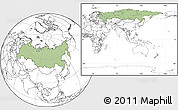 Savanna Style Location Map of Russia, blank outside