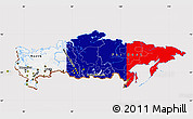Flag Map of Russia, flag rotated