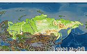Physical Map of Russia, darken