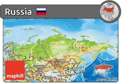 Free Physical Map Of Russia - Russia physical map