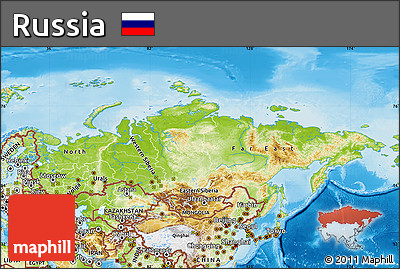 Free Physical Map Of Russia - Physical map of russia