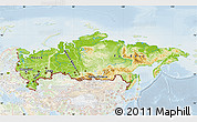 Physical Map of Russia, lighten