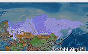 Political Shades Map of Russia, darken