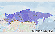 Political Shades Map of Russia, lighten