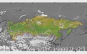 Satellite Map of Russia, desaturated