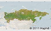 Satellite Map of Russia, lighten