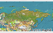 Satellite Map of Russia, physical outside, satellite sea