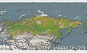 Satellite Map of Russia, semi-desaturated
