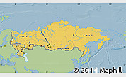 Savanna Style Map of Russia, single color outside