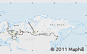 Silver Style Map of Russia, single color outside