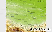 Physical Map of Groznenskiy