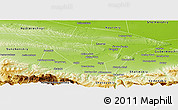 Physical Panoramic Map of Groznenskiy