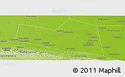 Physical Panoramic Map of Naurskiy