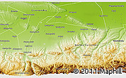 Physical 3D Map of Shalinskiy