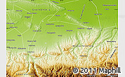 Physical Map of Shalinskiy