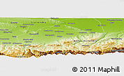 Physical Panoramic Map of Shalinskiy