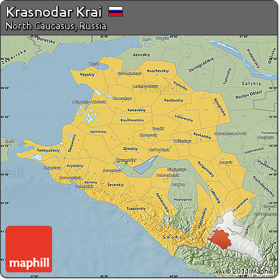 Free Savanna Style Map Of Krasnodar Krai