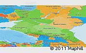 Political Shades Panoramic Map of North Caucasus