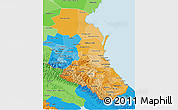Political Shades 3D Map of Republic of Dagestan