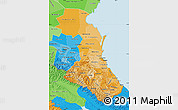 Political Shades Map of Republic of Dagestan