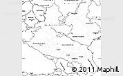 Blank Simple Map of North Caucasus