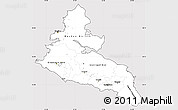 Silver Style Simple Map of North Caucasus, cropped outside